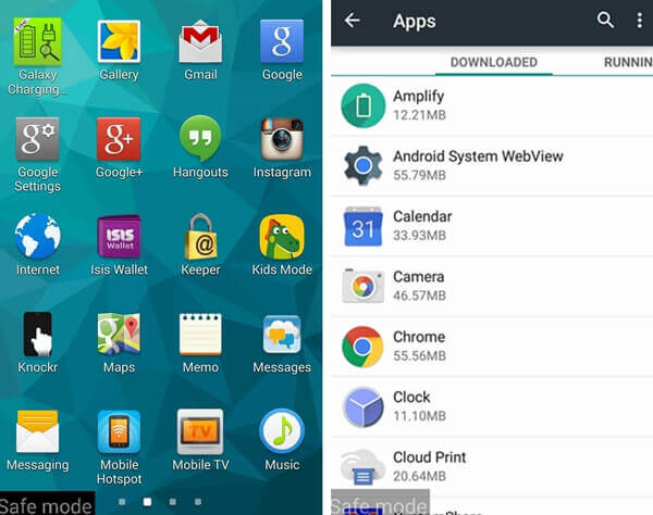 Android Sicher-Modus