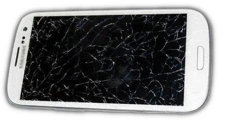 aufgesprungenes Samsung Handy