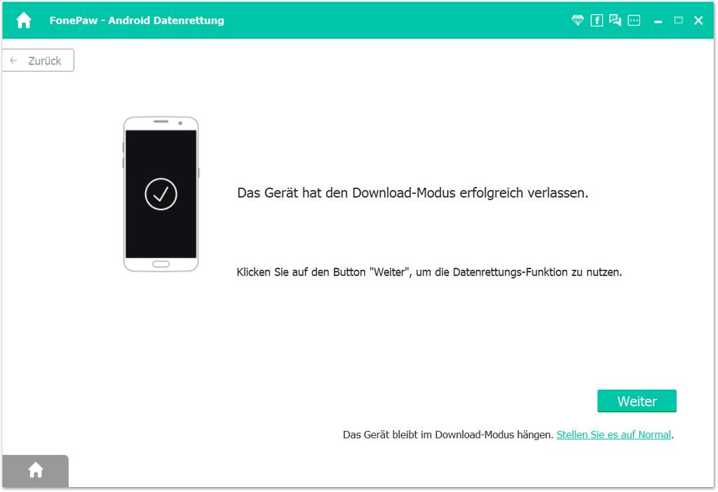 Download-Modus verlassen
