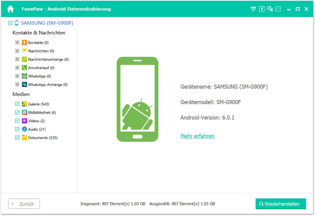 Android Daten wiederherstellen
