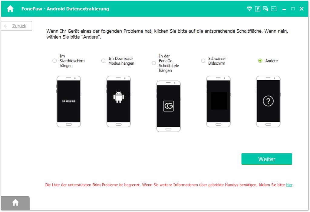Wählen Im Download-Modus hängen