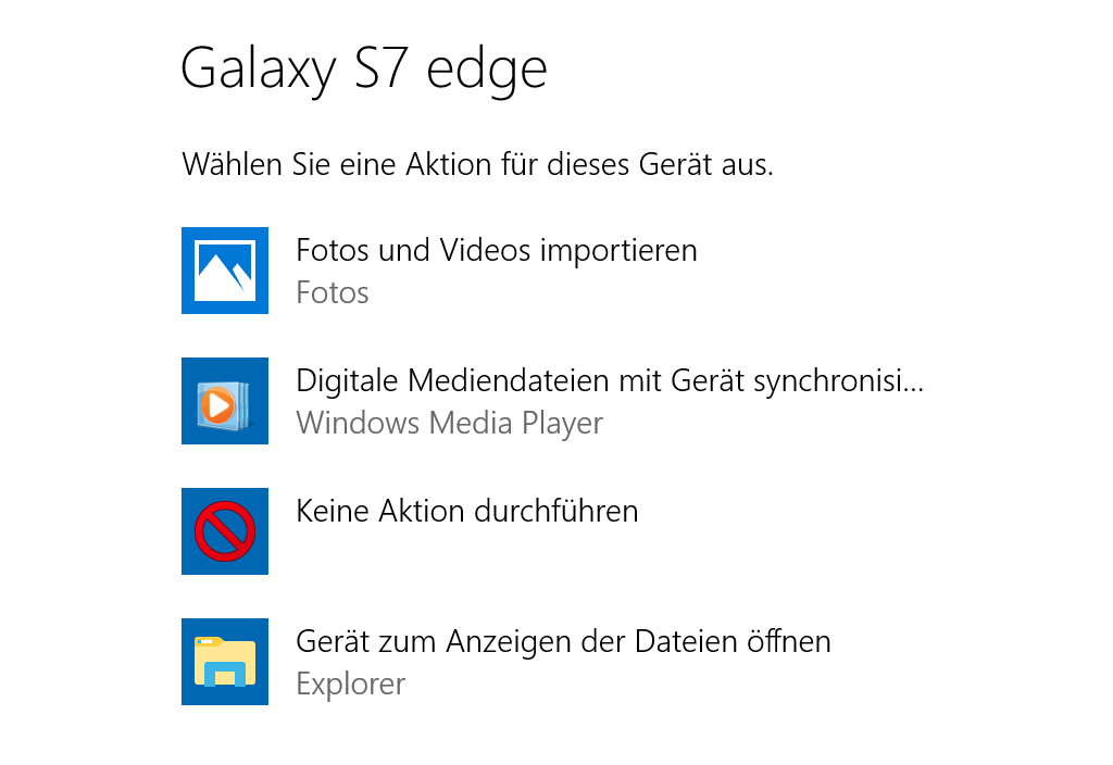 Autoplay Menü auf Windows