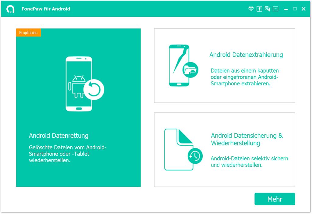 Android Kontakte wiederherstellen mit FonePaw