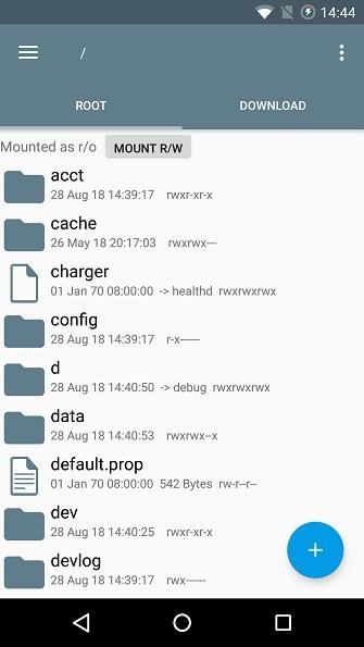 Root Verzeichnis auf Android