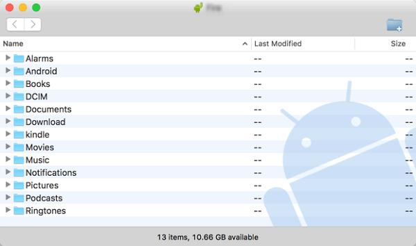 Android Datei Transfer auf Mac