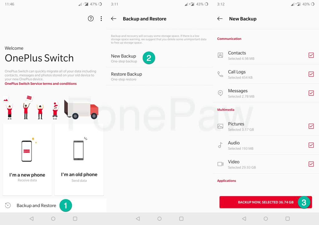 OnePlus Switch Backup