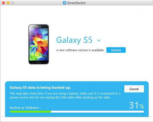 Samsung-Fotos mit Smartswitch auf Mac sichern