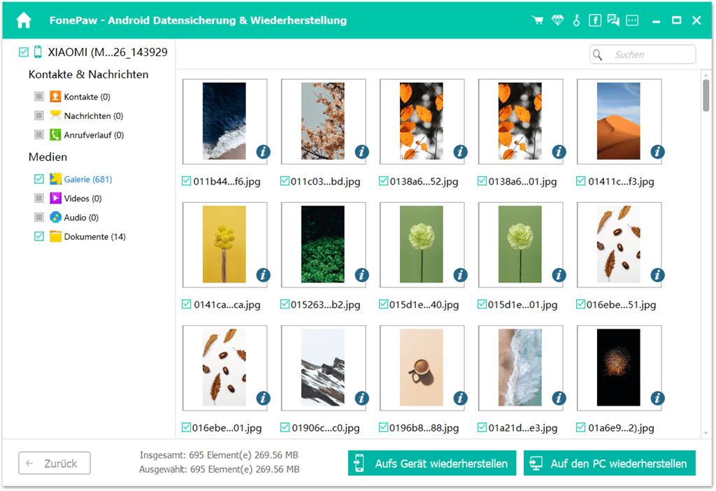 Xiaomi-Backup wiederherstellen