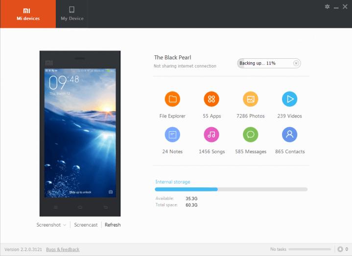 Xiaomi Daten sichern mit Mi PC Suite