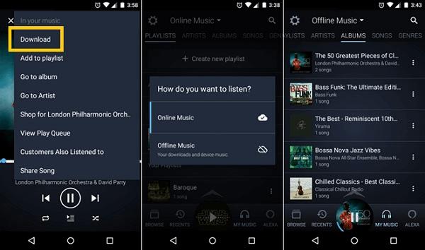 Amazon Prime Music Download auf iPhone Android