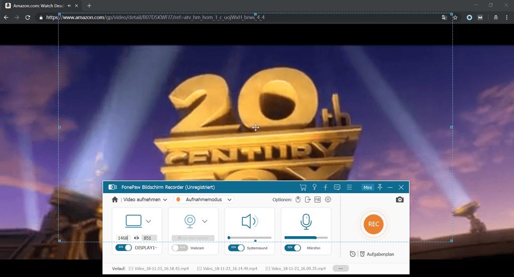Amazon Prime Video zum Aufnehmen auswählen