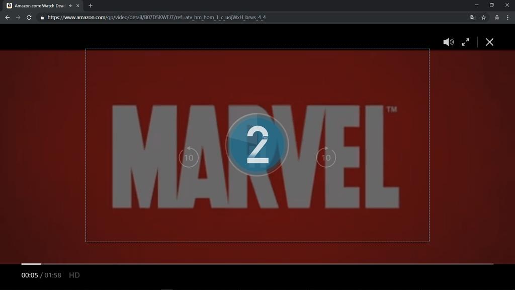 Bildschirm aufnehmen Countdown
