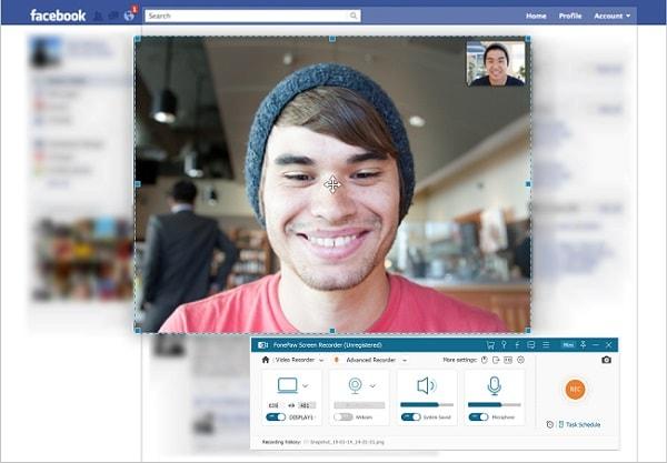 Facebook-Videoanruf auf PC aufnehmen