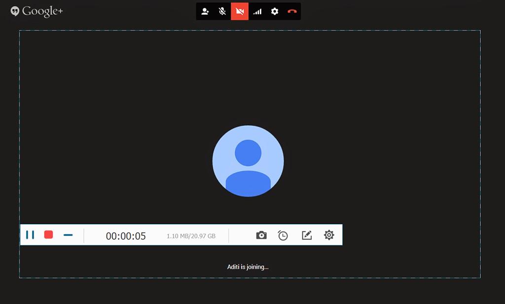Google Hangouts Videoanruf aufnehmen