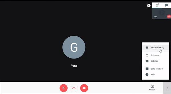 Videokonferenz auf Google Hangouts aufnehmen