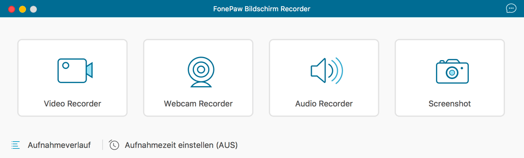 Mac Bildschirm Recorder Interface
