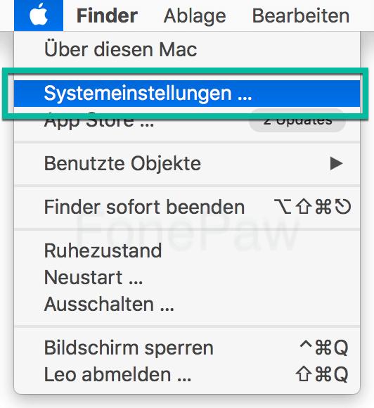 Mac Systemeinstellungen öffnen