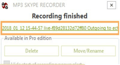 Skype Aufnahme speichern