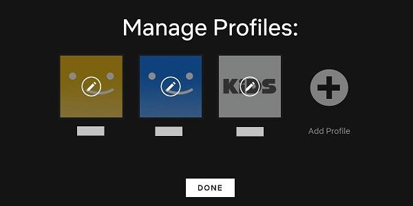 Netflix Profile verwalten