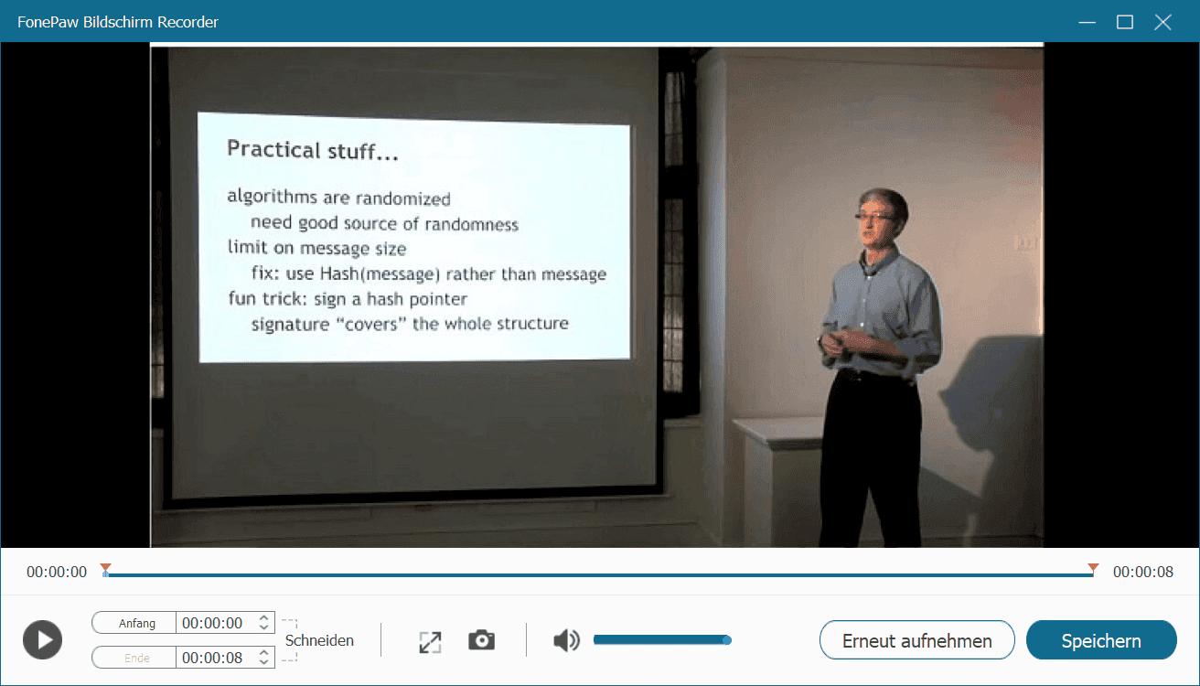 Online Vorlesung aufnehmen