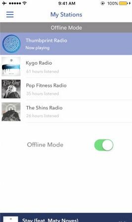 Pandora Offline-Modus aktivieren