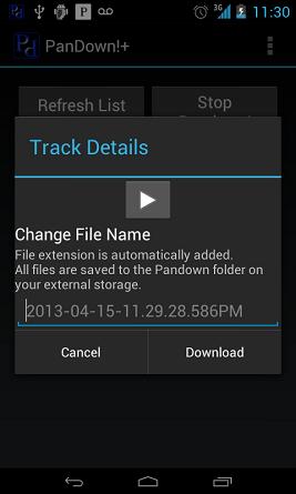 Pandora Songs auf Android downloaden mit PanDown