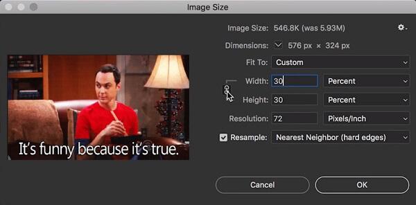 Bildgröße ändern in Photoshop
