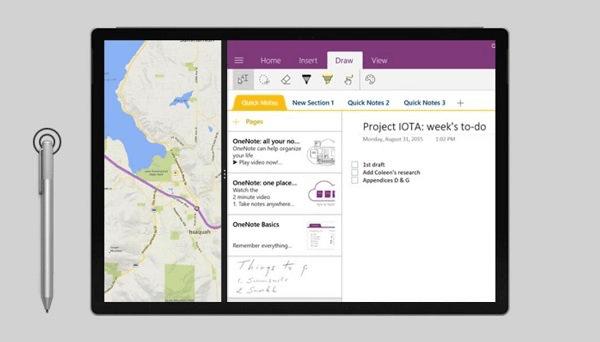 Screenshot Surface Pro mit Pen
