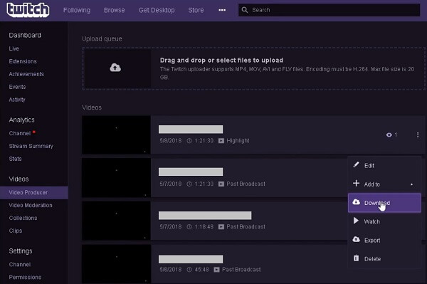 Twitch Broadcasts downloaden
