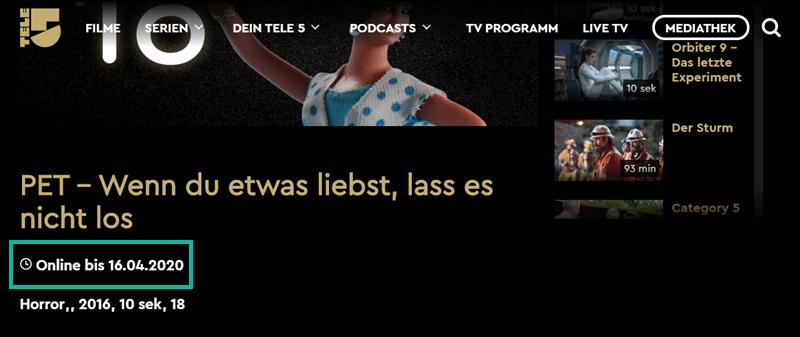 Www.Tele5.De Mediathek