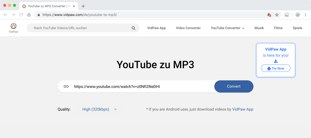 YouTube zu MP3 Converter