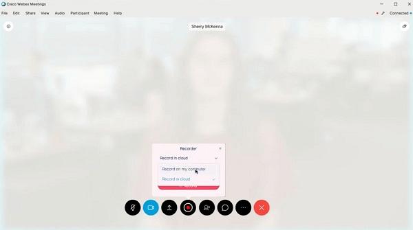 Webex aufnehmen als Host