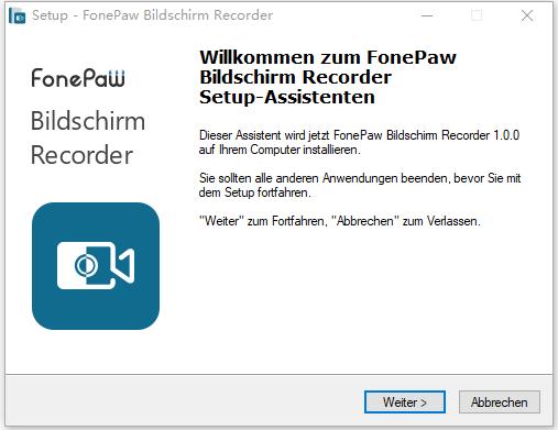 FonePaw Bildschirm Recorder für Windows installieren