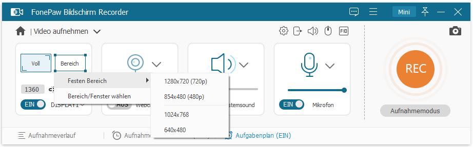 Bildschirm Video aufnehmen unter Windows