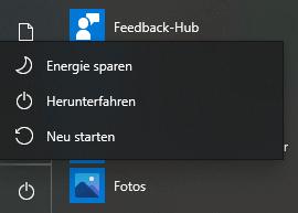 Windows 10 neustarten