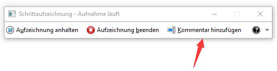 Windows Problem Schrittaufzeichnung bearbeiten