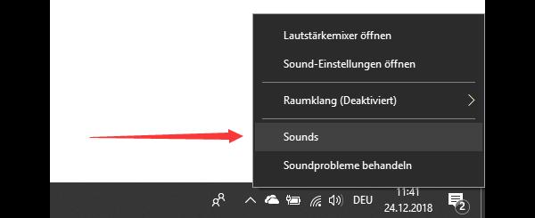 Win-Sound-Kontrolle-Platte öffnen