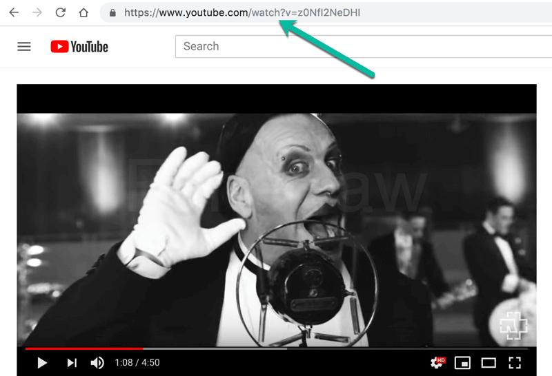 YouTube Musik URL kopieren