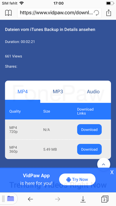 YouTube Videos downloaden auf iPhone/iPad
