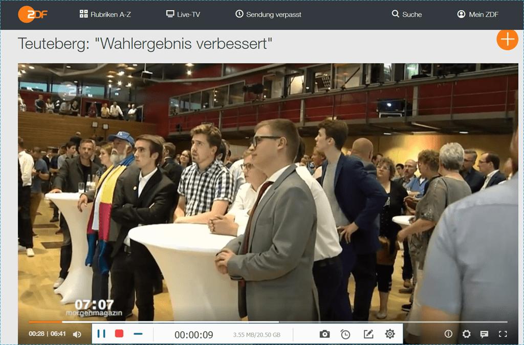ZDF-Videos aufnehmen