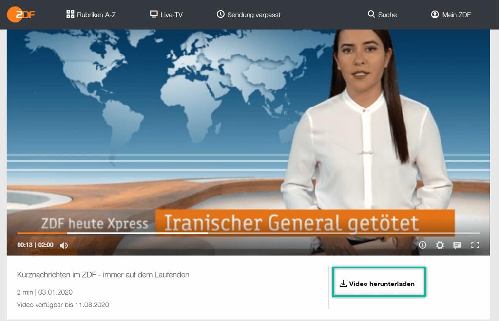 ZDF-Videos herunterladen