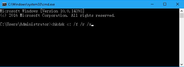 USB reparieren mit CHKDSK F/R/X