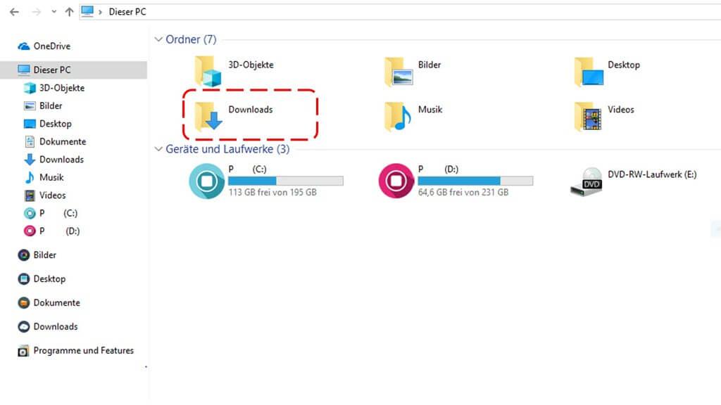 Download-Ordner Windows