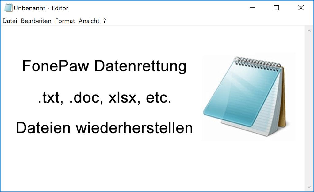 Editor-Dateien wiederherstellen