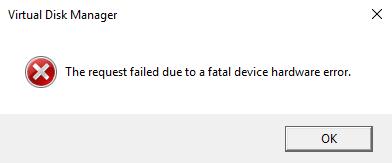 Festplatte-Fehler