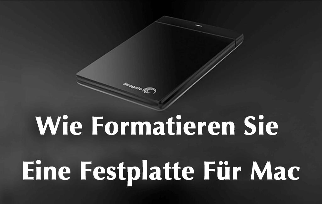Mac Festplatte formatieren