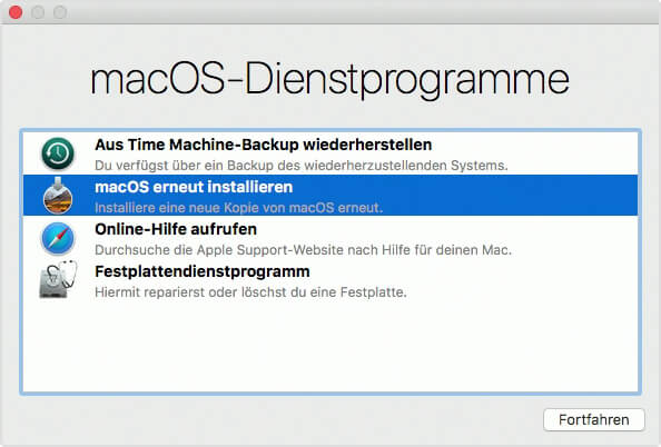 Mac im Recovery-Mode versetzen