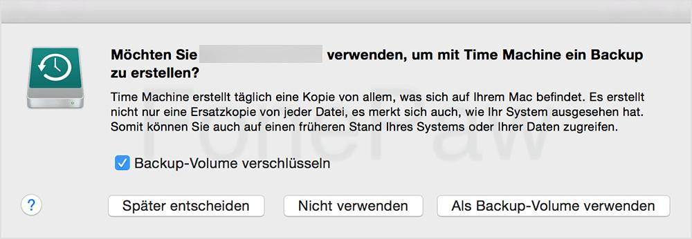 Mac Backup auf externe Festplatte mit Time Machine