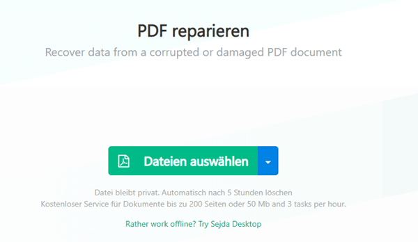 PDF online reparieren