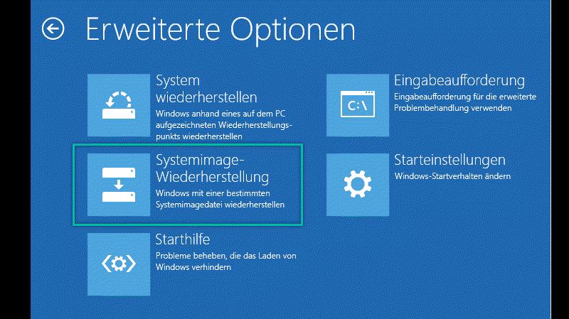Systemimage-Wiederherstellung Windows